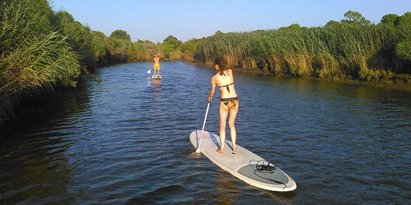 stand-up paddle sur la leyre