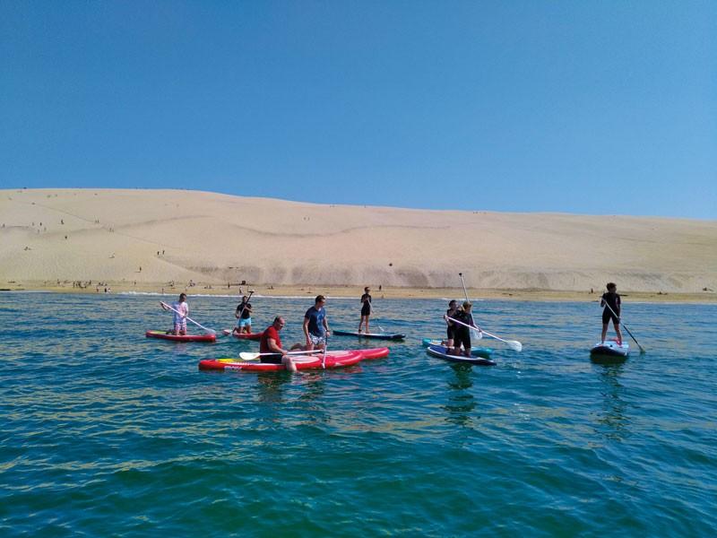 Balade le long de la Dune du Pyla en Stand-up Paddle