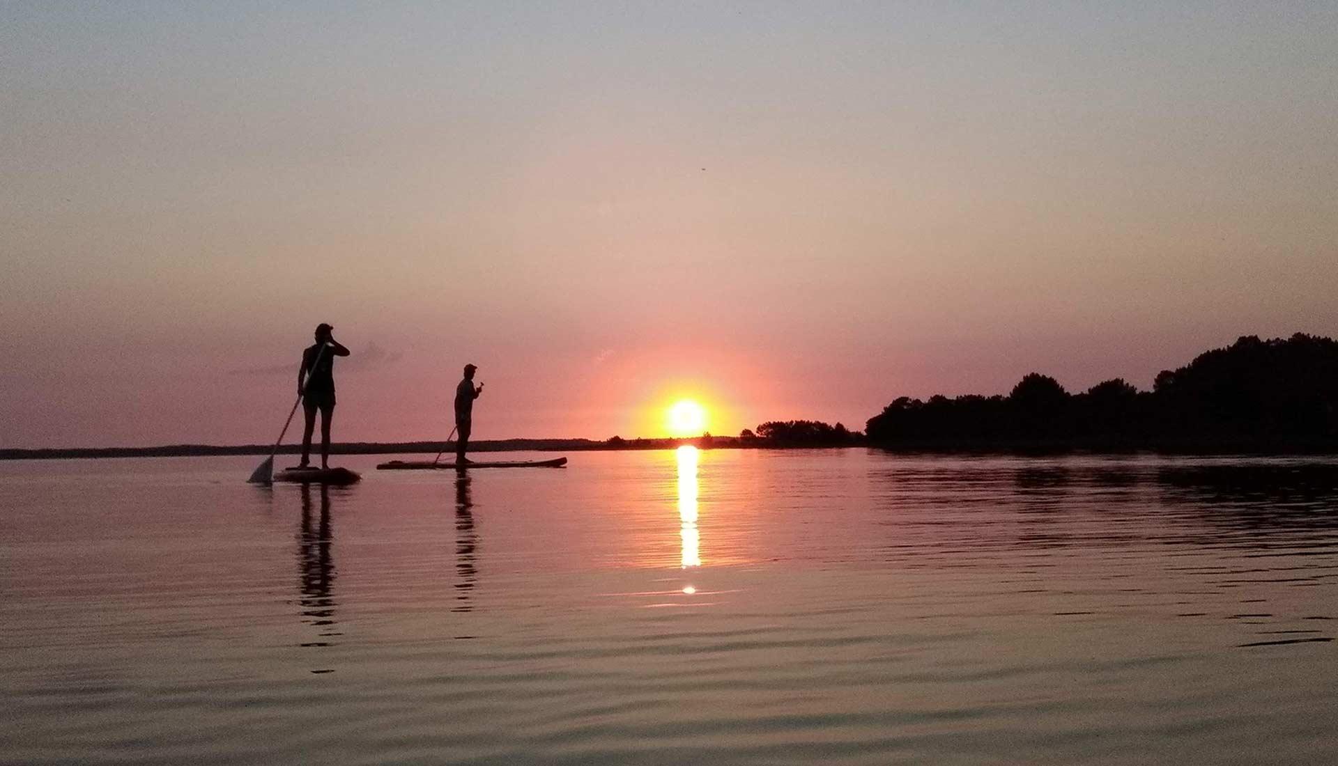Crépuscule en paddle