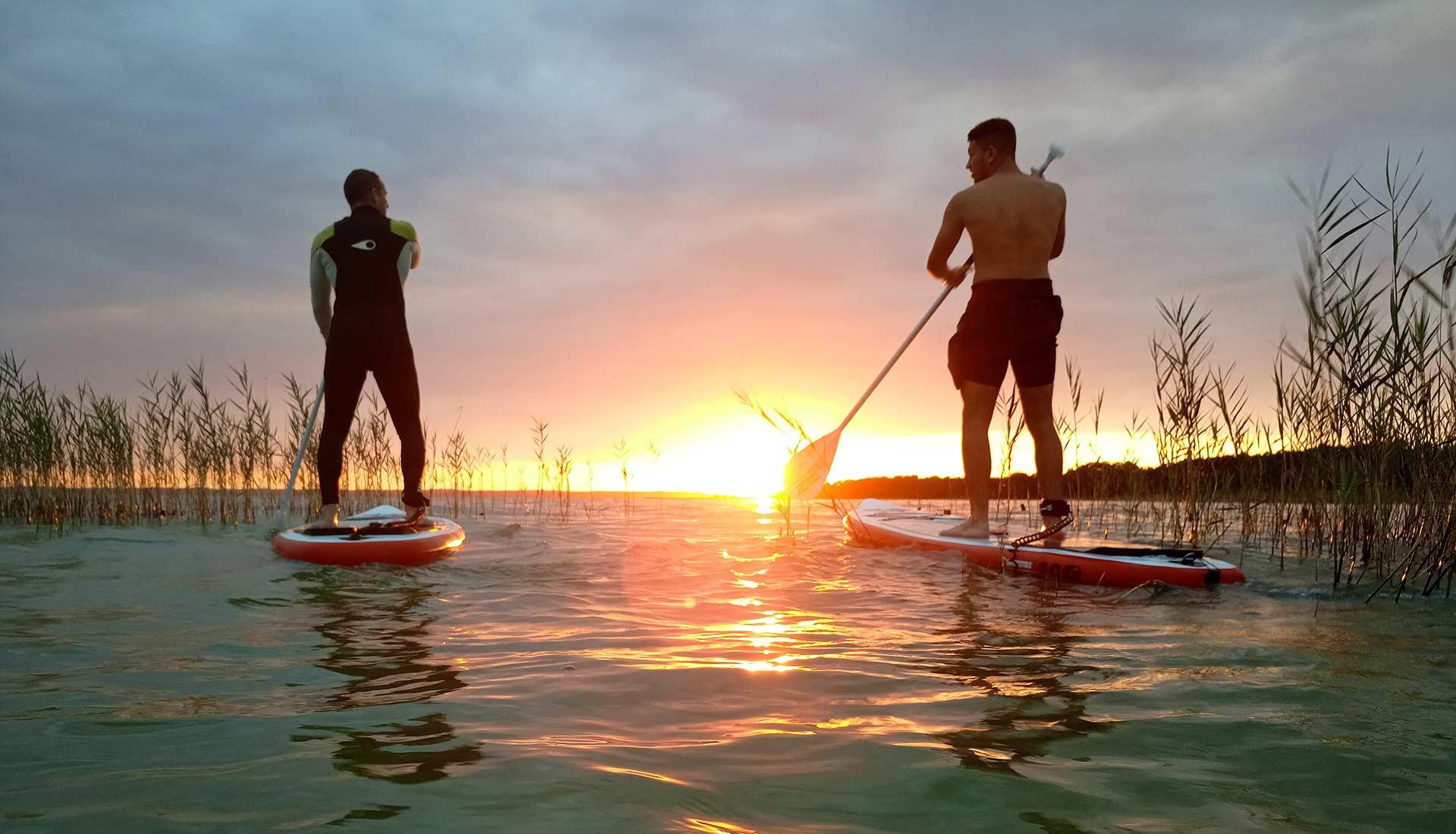 Coucher de soleil en stand-up paddle sur le Bassin d'Arcachon