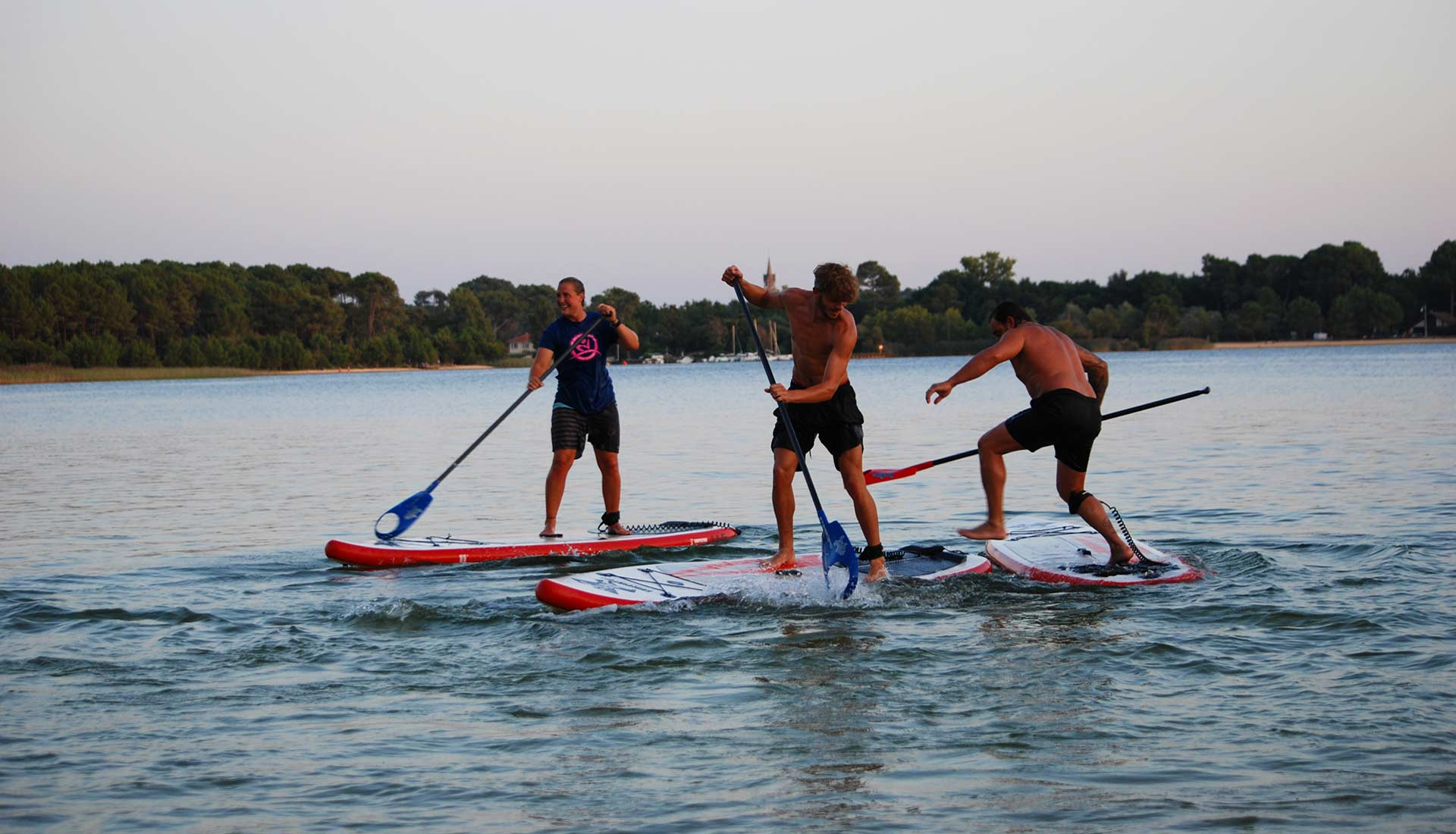 Polo en stand-up paddle arcachon