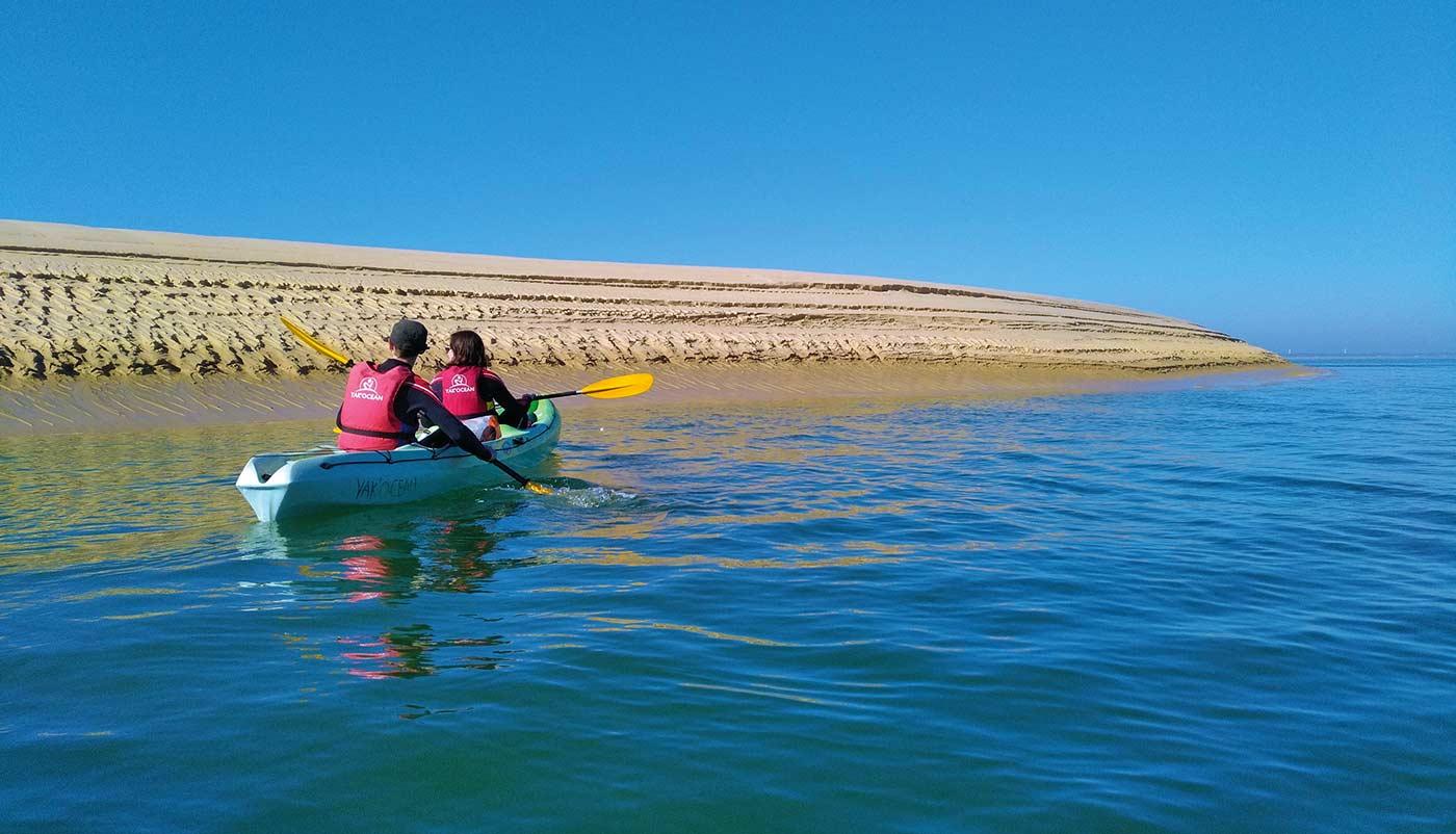 sortie en canoë kayak sur le bassin d'arcachon