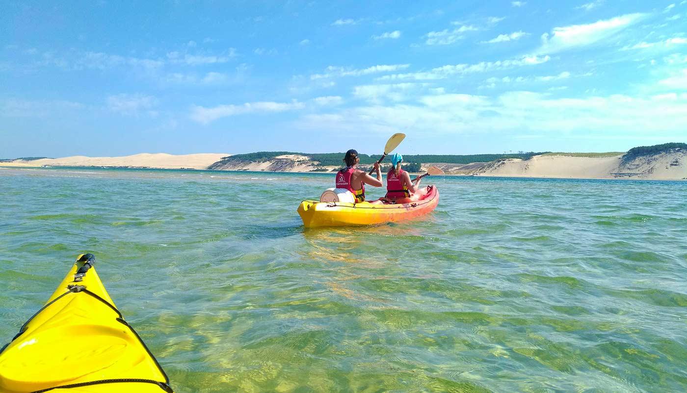 activité nautique sur le bassin d'arcachon