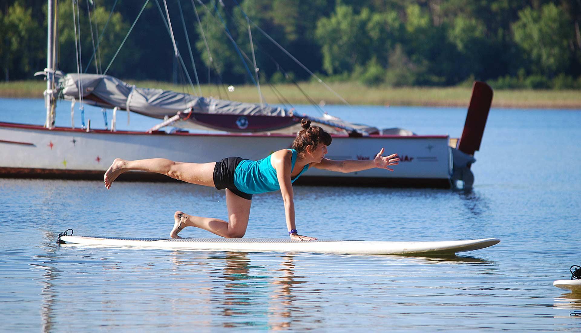 yoga en stand-up paddle sanguinet