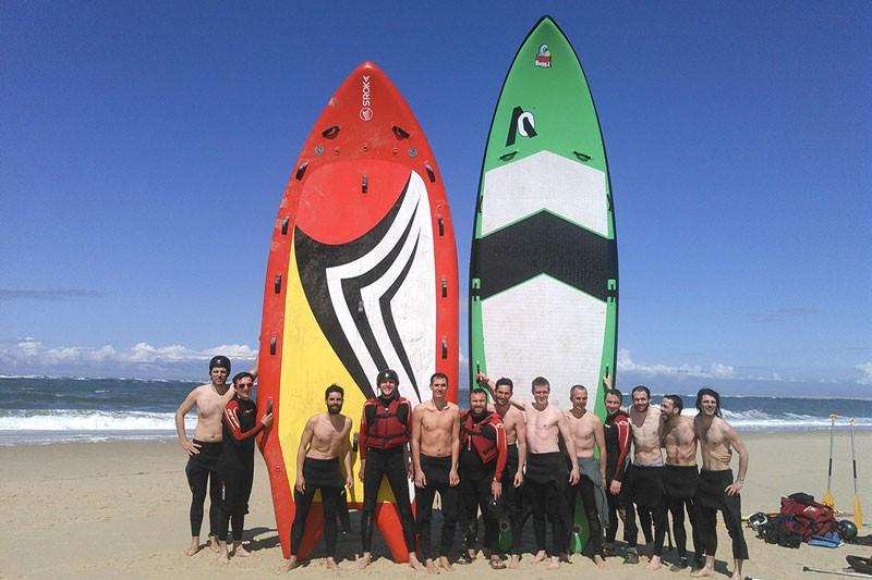 Challenge wave rafting